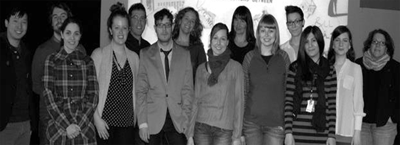 black and white photo of a group of people
